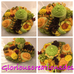 Fruit platter for wedding - Glorious Creations Desserts Brooklyn NY